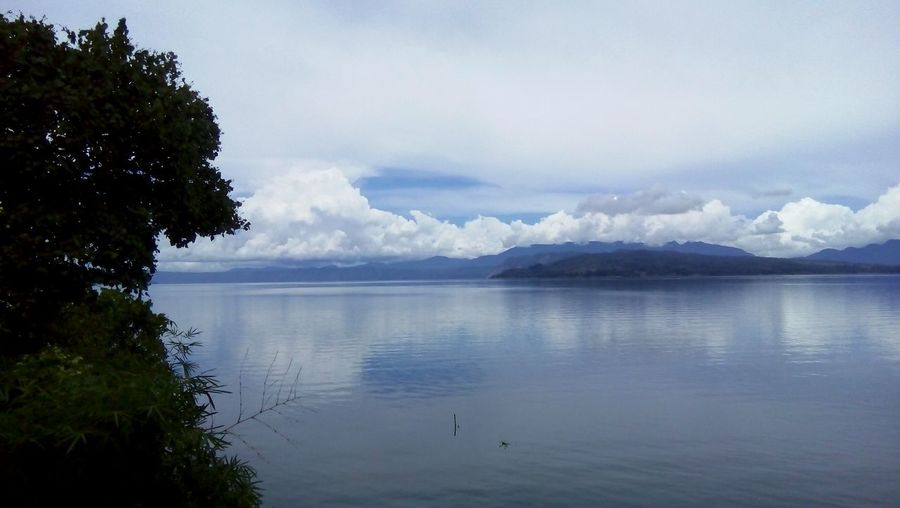 INDONESIA Toba Sky Clouds Lake
