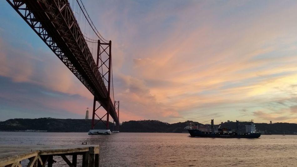 Sky Bridge - Man Made Structure Water Architecture Bridge Over Water Bridge Lisbonlovers Lizbona Lisboa Portugal
