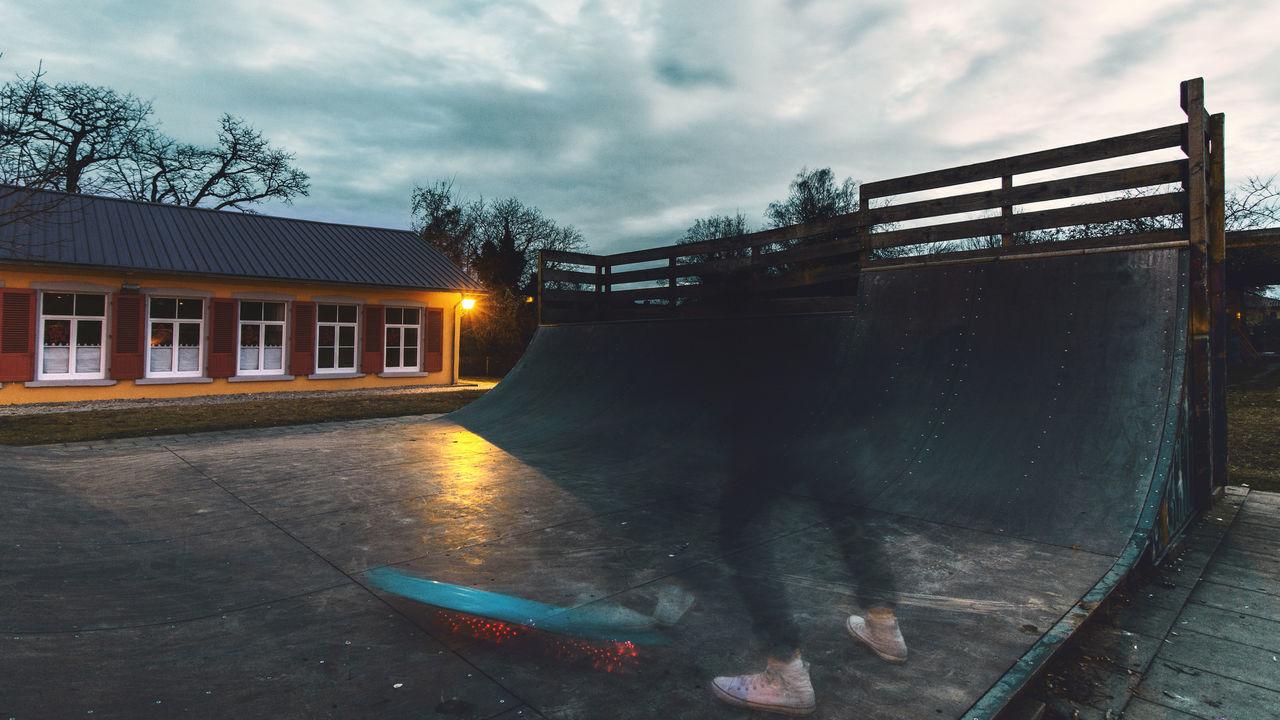 Blue Board Cloud - Sky EyeEm Best Shots Eyeemphoto Halfpipe Outdoors Pennyboard Skateboarding Skatepark Sports Sports Photography Sportsman Streetphotography