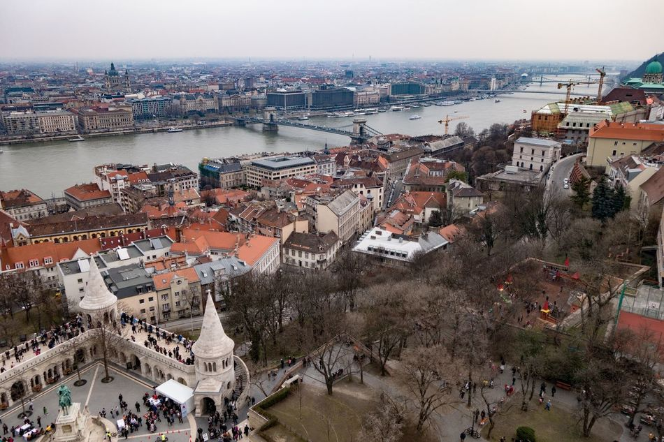 Aerial View Architecture Bridge - Man Made Structure Building Exterior City Cityscape Community Day High Angle View Outdoors People Place Of Worship Roof Sky Travel Destinations Urban Skyline