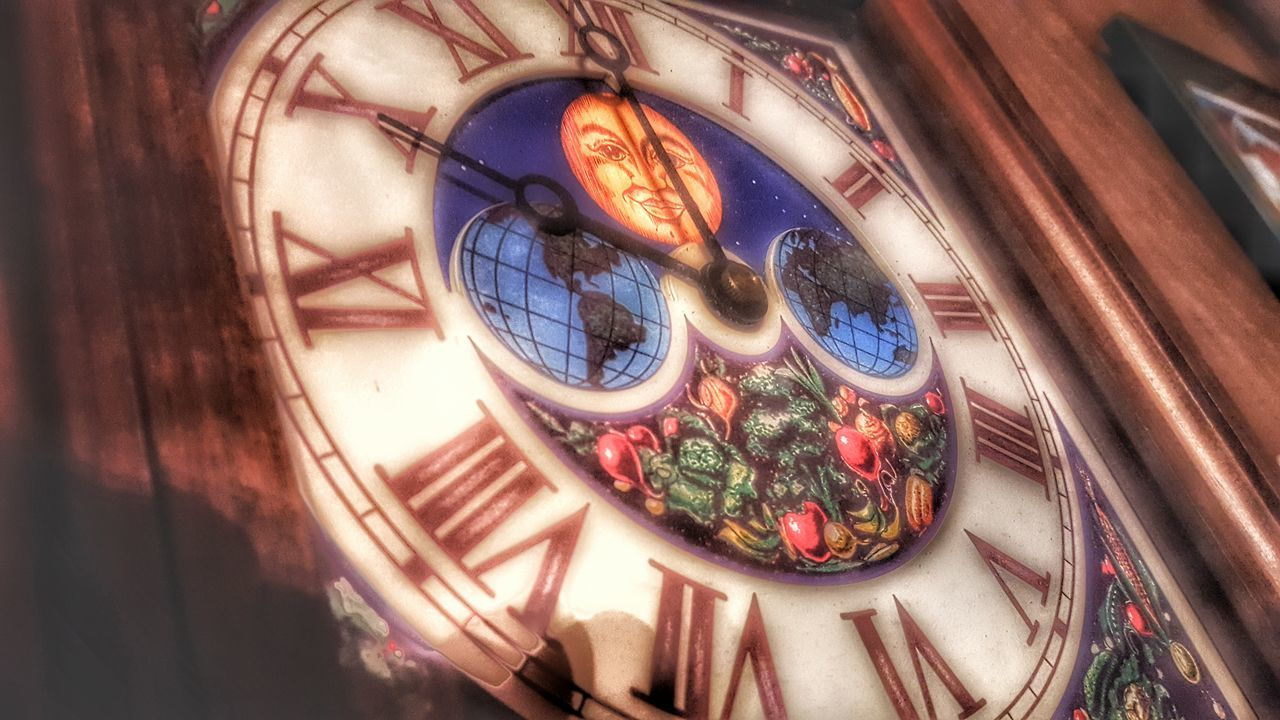 Macro Beauty Clock Man In The Moon Planting Seeds Vintage Clock Hands Burpee Hands Of Time