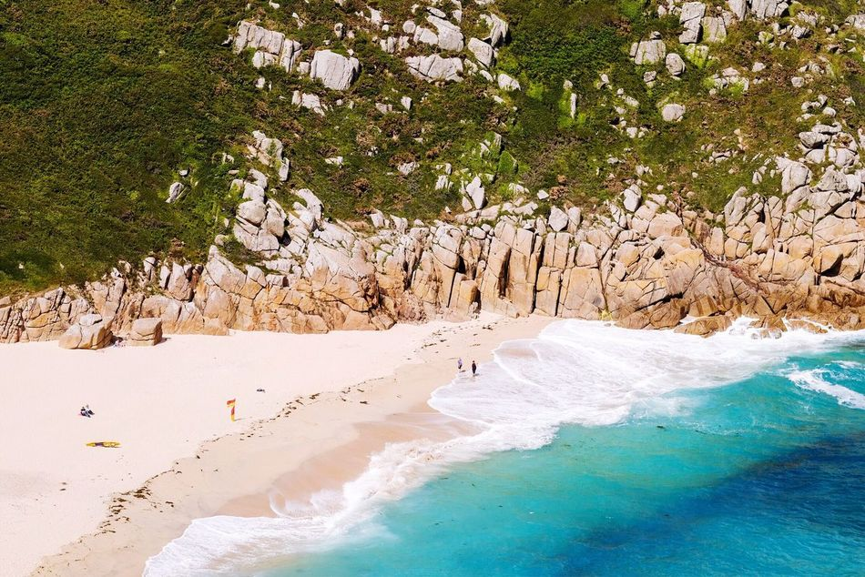 High angle view of a white sandy beach with turquoise seawater surrounded by rocky cliffs Nature Rock - Object Water Beach Beauty In Nature Sea Scenics Tranquility Landscape Sand Outdoors Day Beauty High Angle View White White Sandy Beach Turquiose Seawater Rocky Rocky Cliffs First Eyeem Photo The Secret Spaces