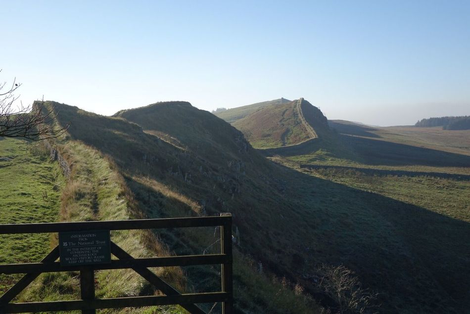 Hardians wall Mountain Beauty In Nature Scenics Nature Tranquility Clear Sky Tranquil Scene Idyllic Outdoors Landscape Day No People Grass Hardians Wall England Boarder Hadrian's Wall