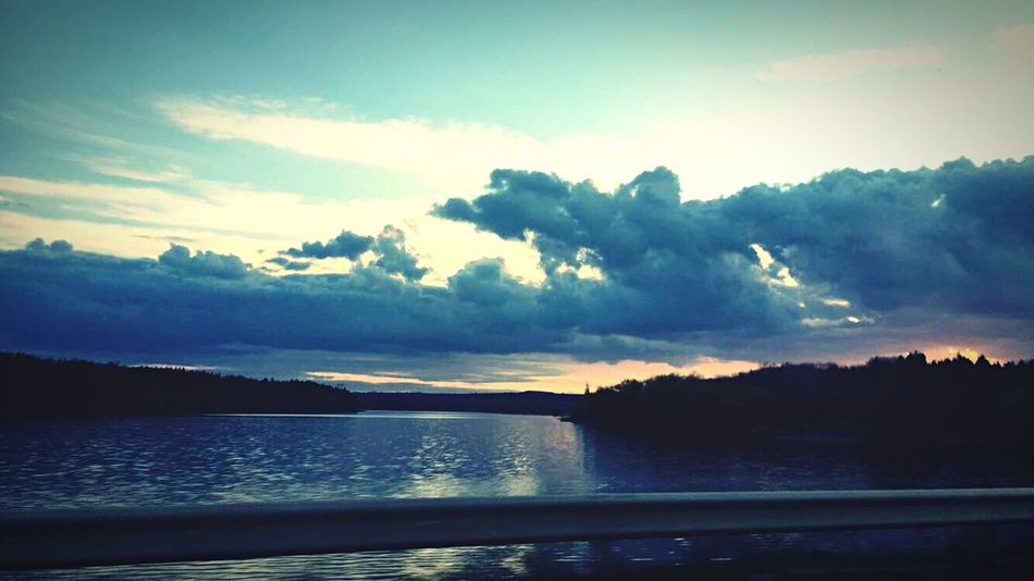 Sunset above Kavacite dam🌞🌞 Sky Beauty In Nature Water No People Cloud - Sky Landscape Sunset First Eyeem Photo