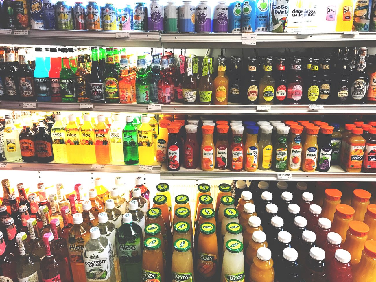 Serendipity ➰ Color Shelf Bottle Arrangement Food Abundance Store Jar Drink Choice In A Row