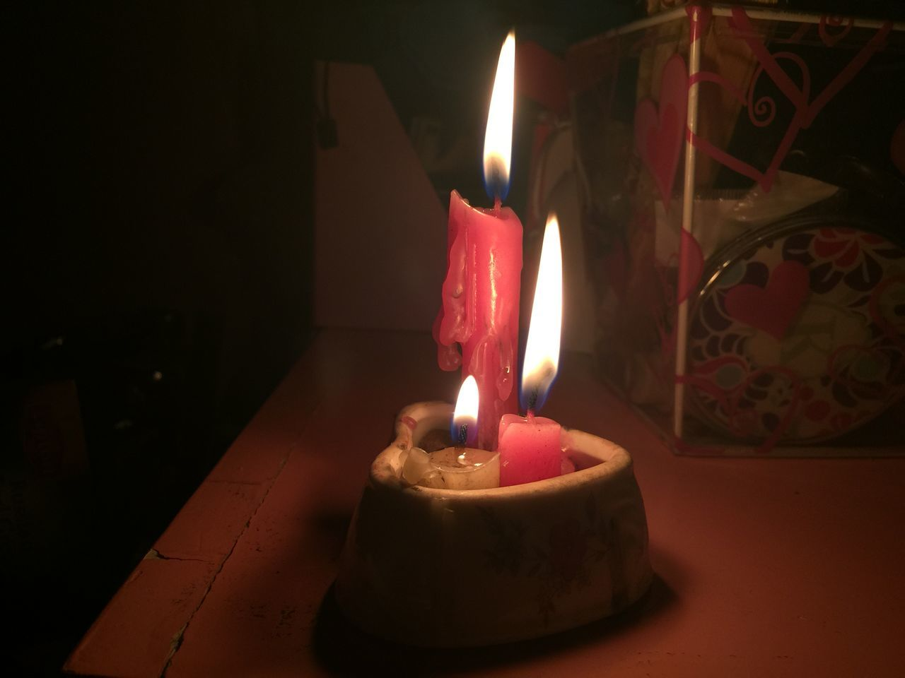 Burning Candle Candle Candle Light Candlelight Candles Darkroom Fire Fire - Natural Phenomenon Flame Flame Flames Glowing Heart Heat - Temperature Illuminated Indoors  Lighting Equipment Lit No People Now Oil Lamp Onfire Tea Light Three