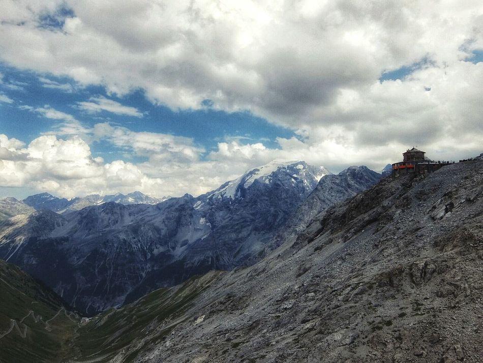 Stelvio Stilfserjoch Passo Stelvio Stelviopass Mountains And Sky Alps Clouds Mountain Hut Südtirol Fujifilm