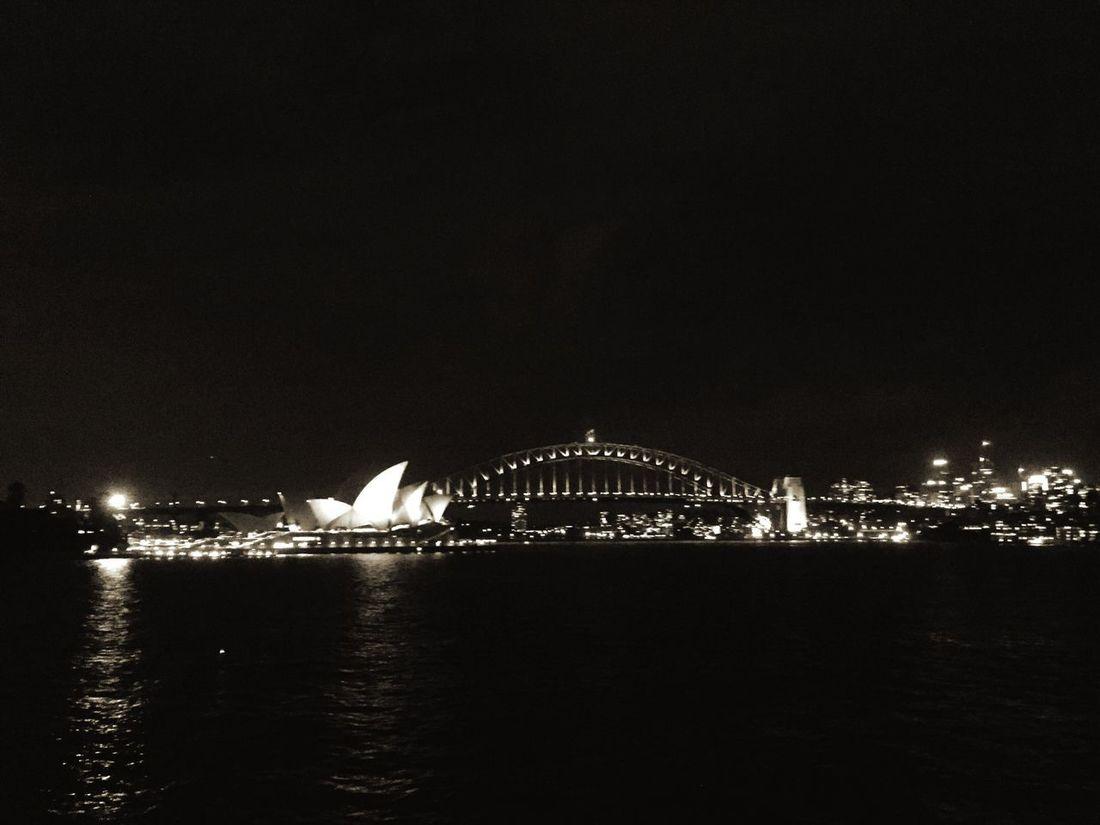 Sydney Opera House Operahouse Sydney Harbour Bridge Nightphotography Night View