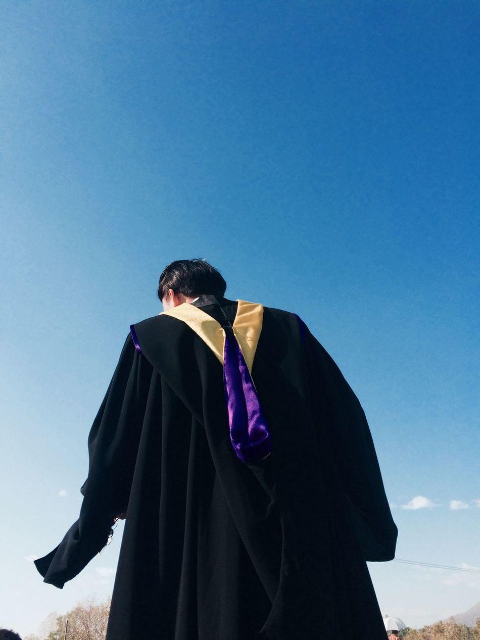 Beautiful stock photos of graduation, Achievement, Blue, Clear Sky, Day