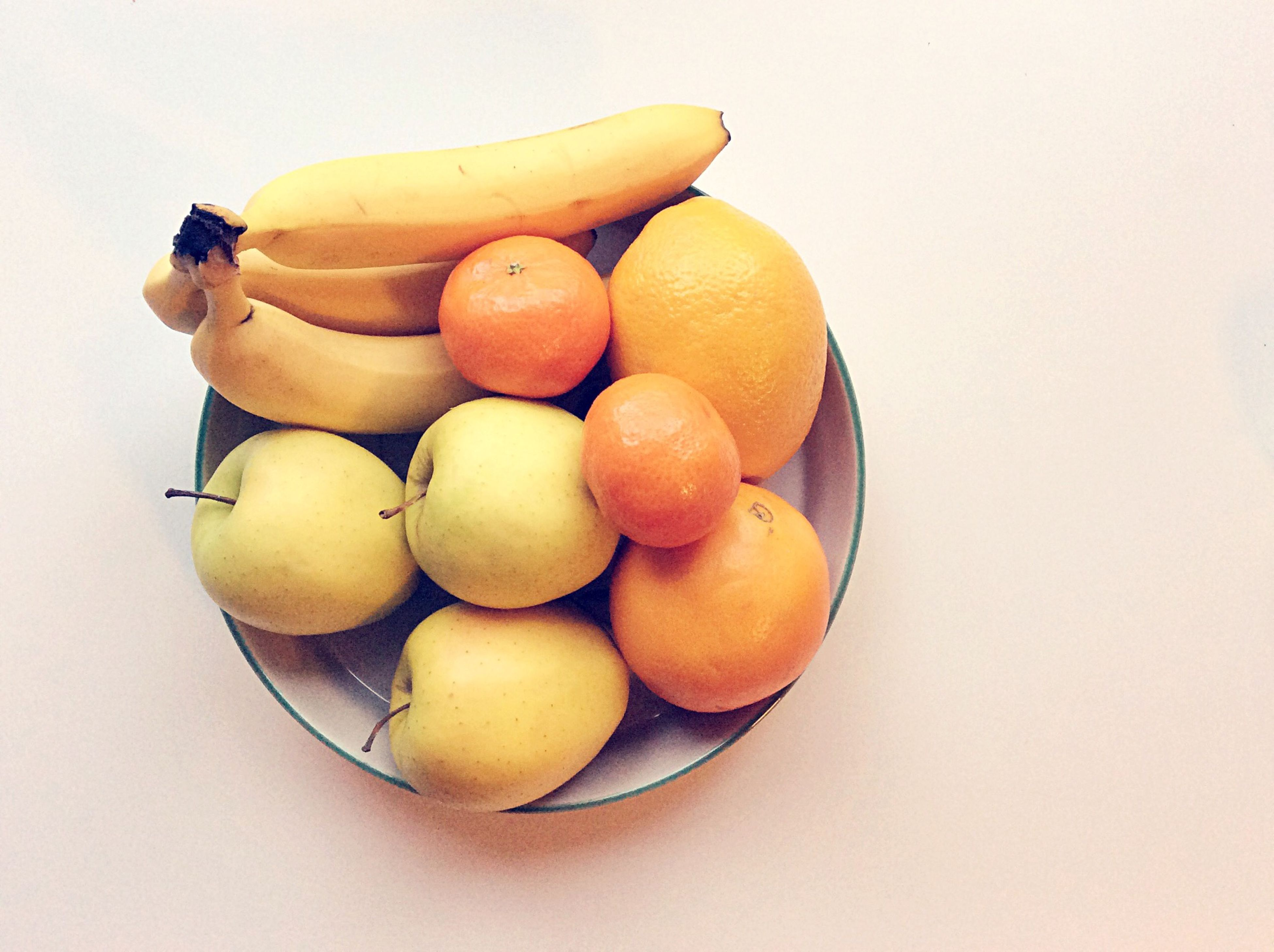 food and drink, food, healthy eating, fruit, studio shot, white background, freshness, still life, indoors, table, orange - fruit, copy space, banana, organic, close-up, ripe, high angle view, directly above, pear, apple