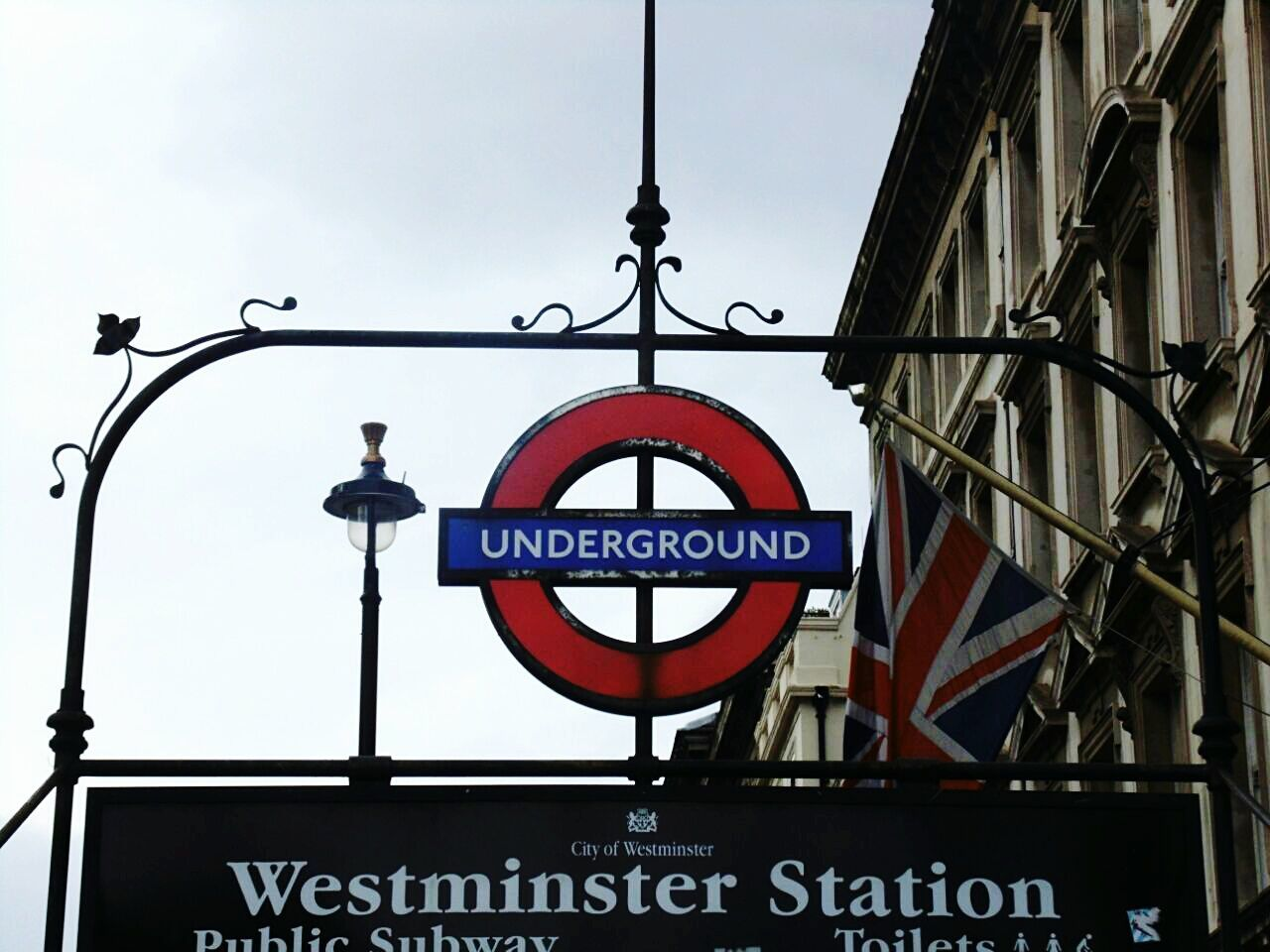 Westminster Subway Tube Station  Travel Destinations Summer London Nopeople Urban Landscape London Underground Cloudy Day