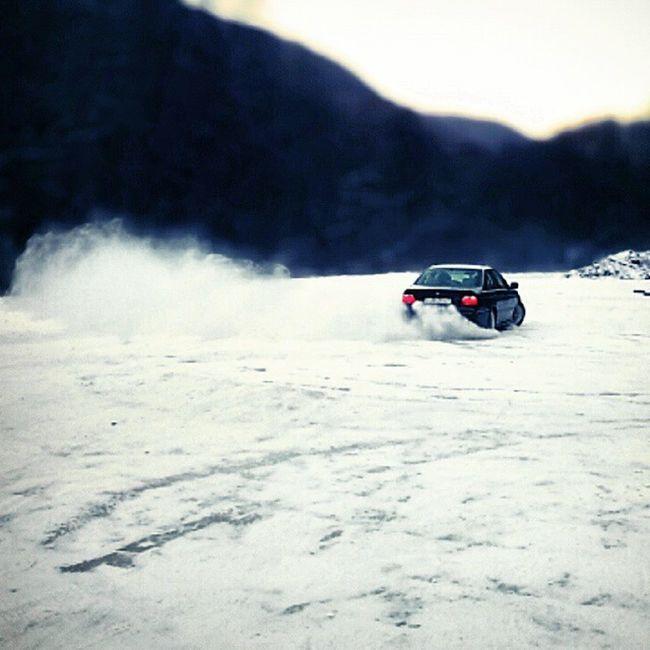 Winter Session E39 Bmw 530d Miskolc Bükk Fun Practice Drift Snow Ice Car