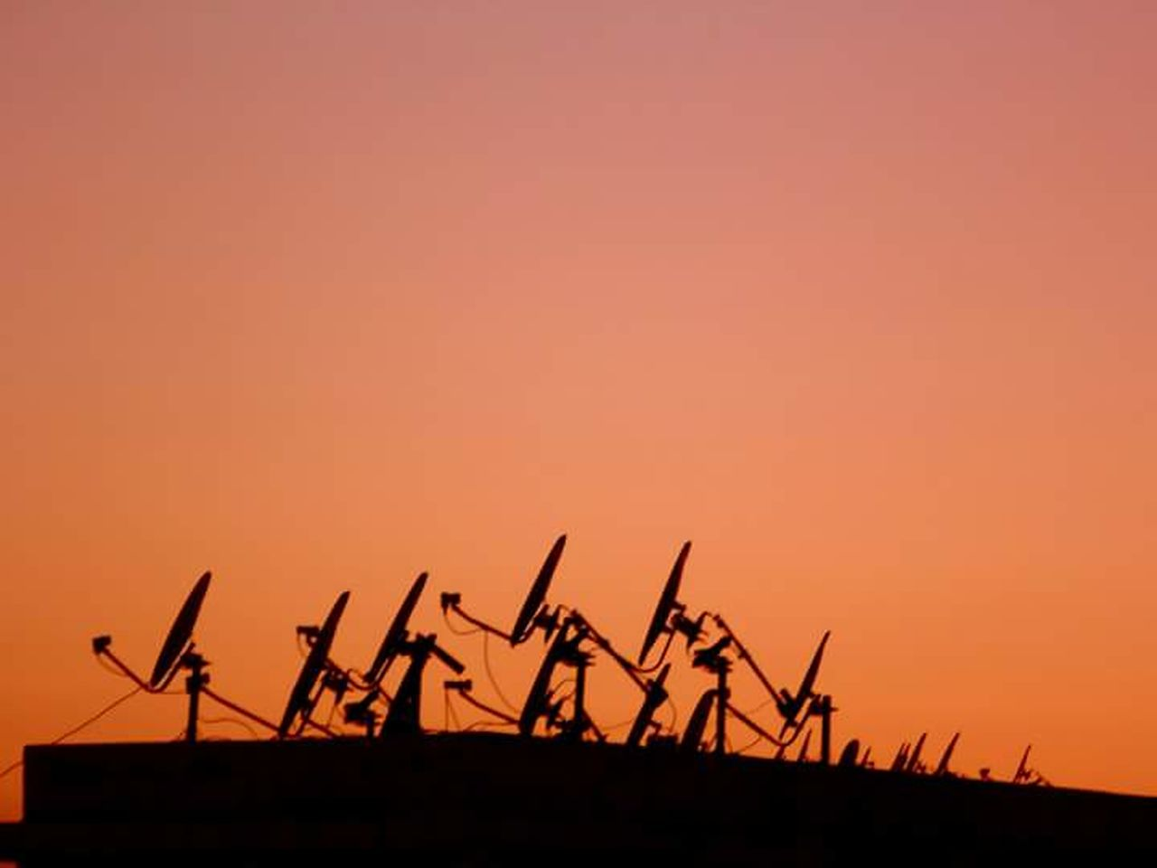 silhouette, sunset, no people, clear sky, sky, nature, outdoors, day, oil pump