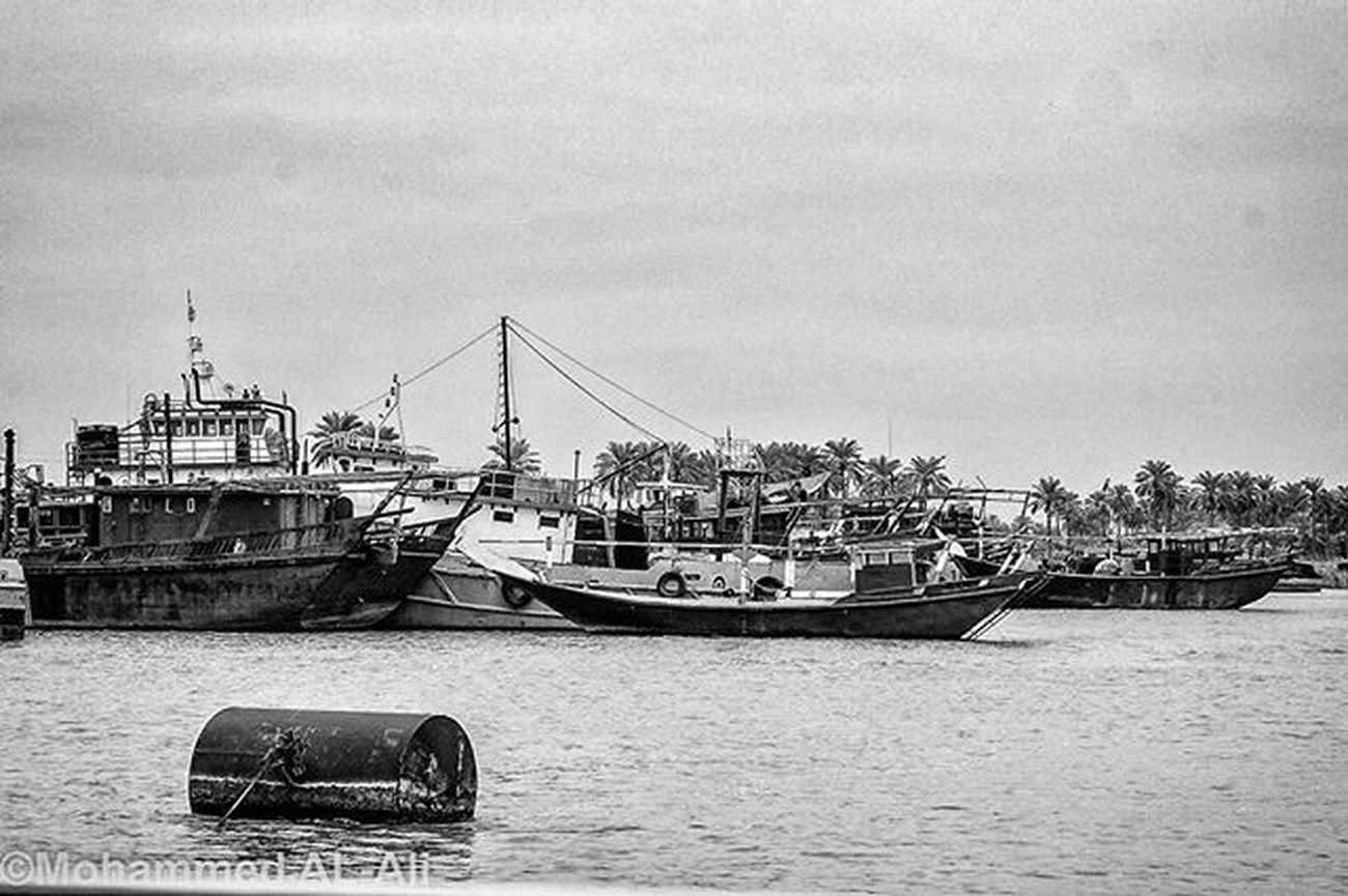 Canon 400d Canon400d Blackandwhite Monochrome River Boats Shattalarab Basrah Iraq