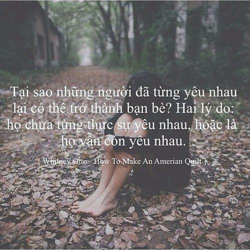Đôi khi tôi cũng tự hỏi mình cái lý do để tôi và ngđó tiếp tục là bạn là gì... Nhưng con người tôi ở hiện tại đã níu giữ những ý nghĩ đó không đi xa hơn .. Quotesvn Buudia Caloeng Tamtrangbaton