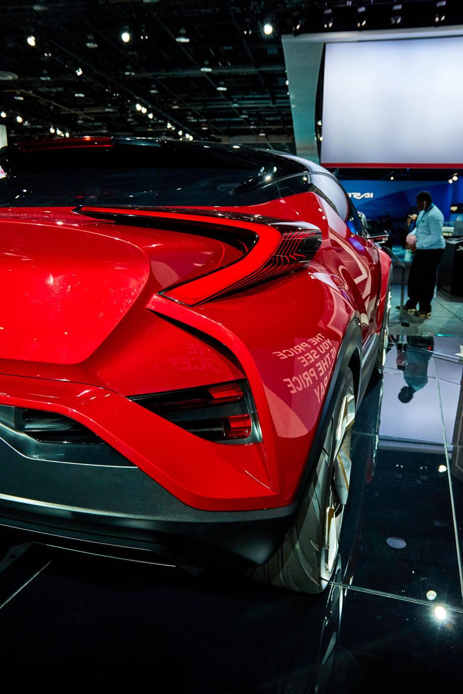 2016 Detroit Auto Show C-HR Car Concept Red Scion