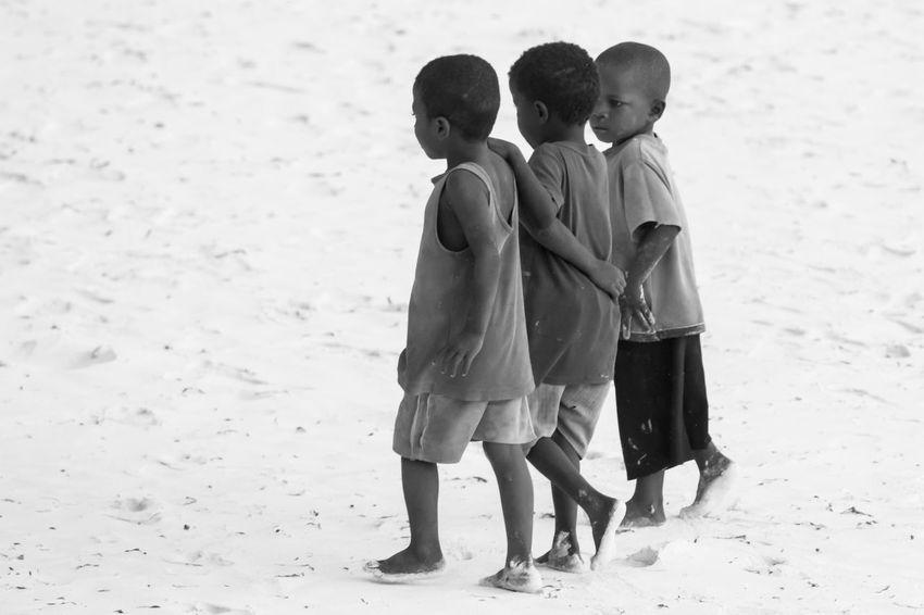 Africa Beach Beach Kids Boys Child Childhood Day Indian Ocan Leisure Activity Lifestyles Nature Outdoors People Real People Sand Sunrise Swahili Coast Togetherness Zanzibar