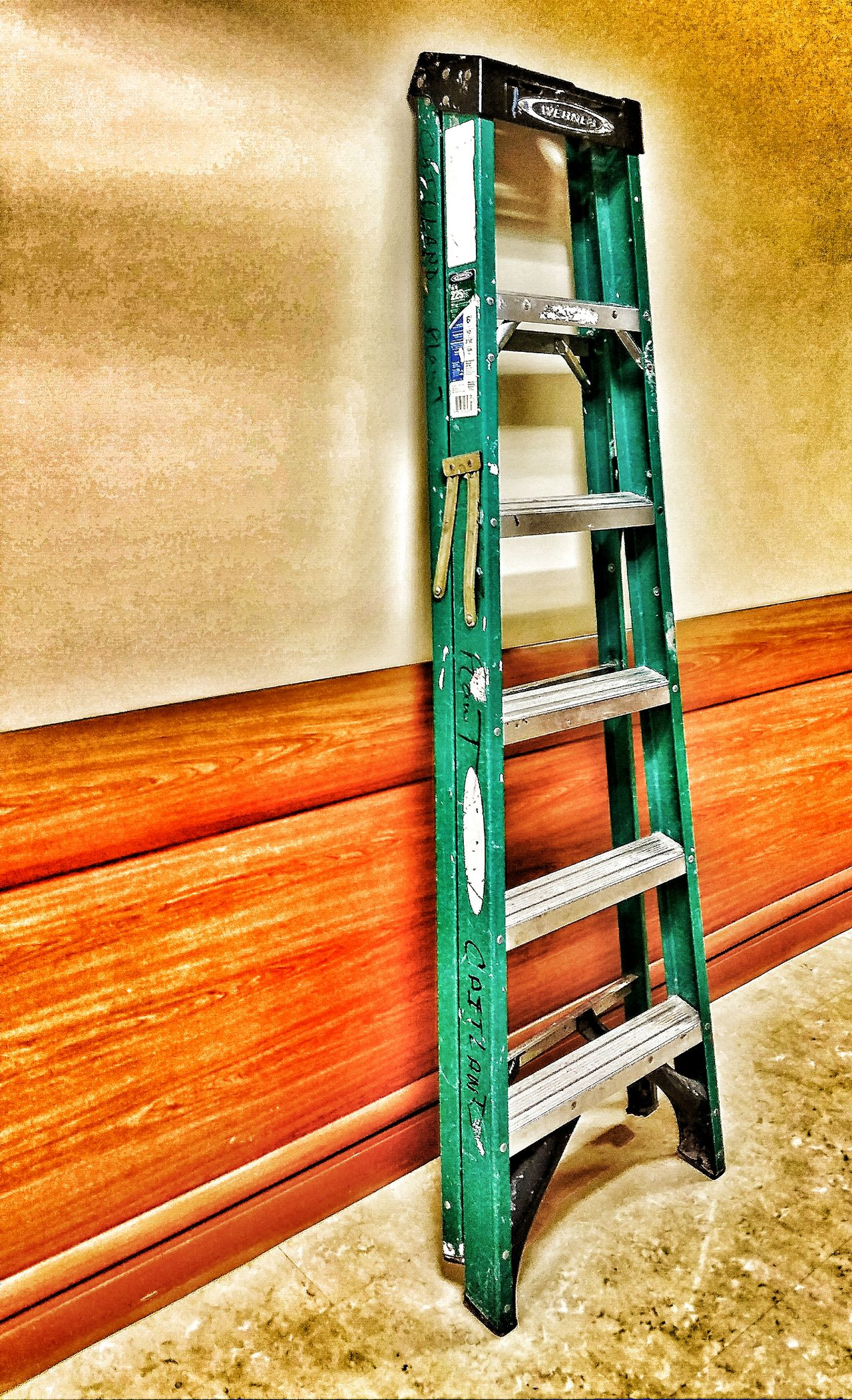 Working Nights Simplicity Lone ladder abandoned in the hallway at 3:30 am...