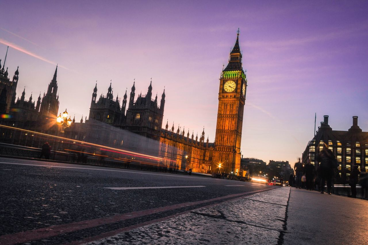 London Clock Tower Architecture Building Exterior Travel Destinations Tower Sunset Sky City Big Ben EyeEmNewHere