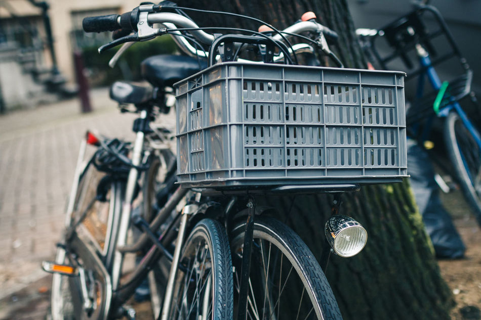 Beautiful stock photos of amsterdam, Amsterdam, Bicycle, Container, Crate