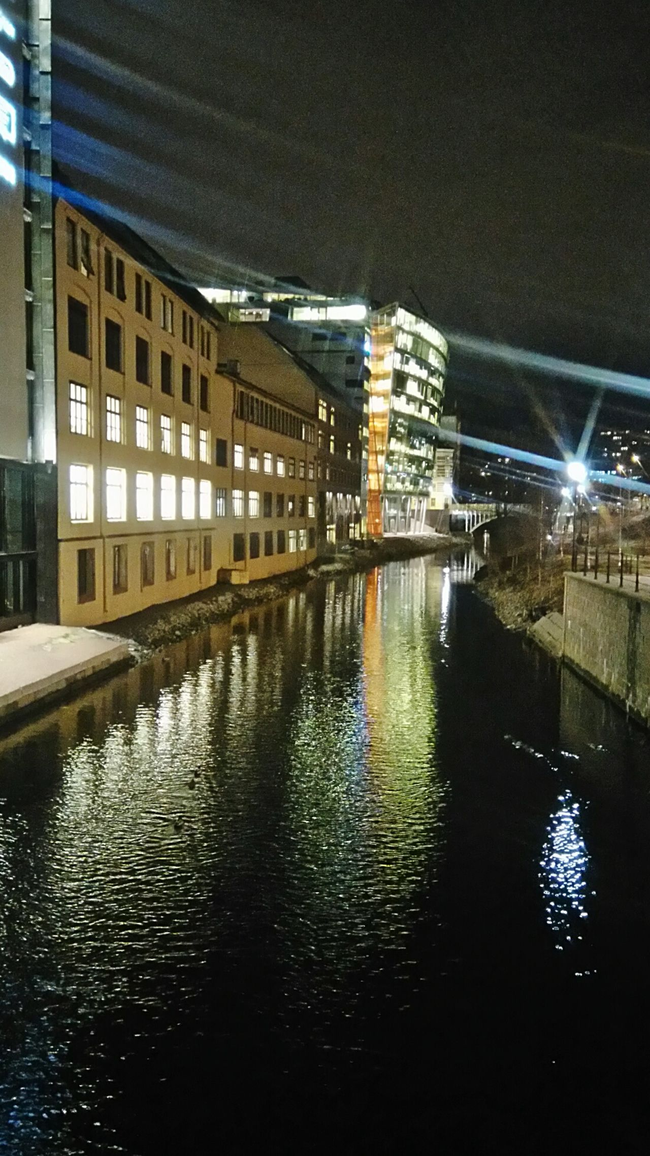 Architecture Built Structure Reflection Building Exterior City Water No People Illuminated Outdoors Sky Day Water Reflections River Cityexplorer Naturelovers Travel City Buildings Oslo Norway Oslo, Norway Beauty In Nature Nature Nature Photography Norway Travel Destinations