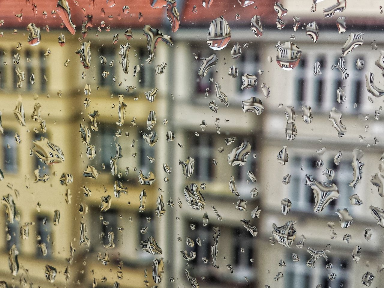 Raindrops Rainy Days Drops Reflection Reflection In Rain Drops Close-up Indoors  No People Architecture Eyembestsshots Pattern Texture Backgroud Rain Drops Window Reflection In Windows Berlin