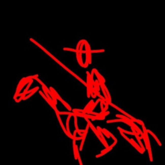 Don Quixote. Another attempt / Sketch Quixote Attempt Literature Man Horse