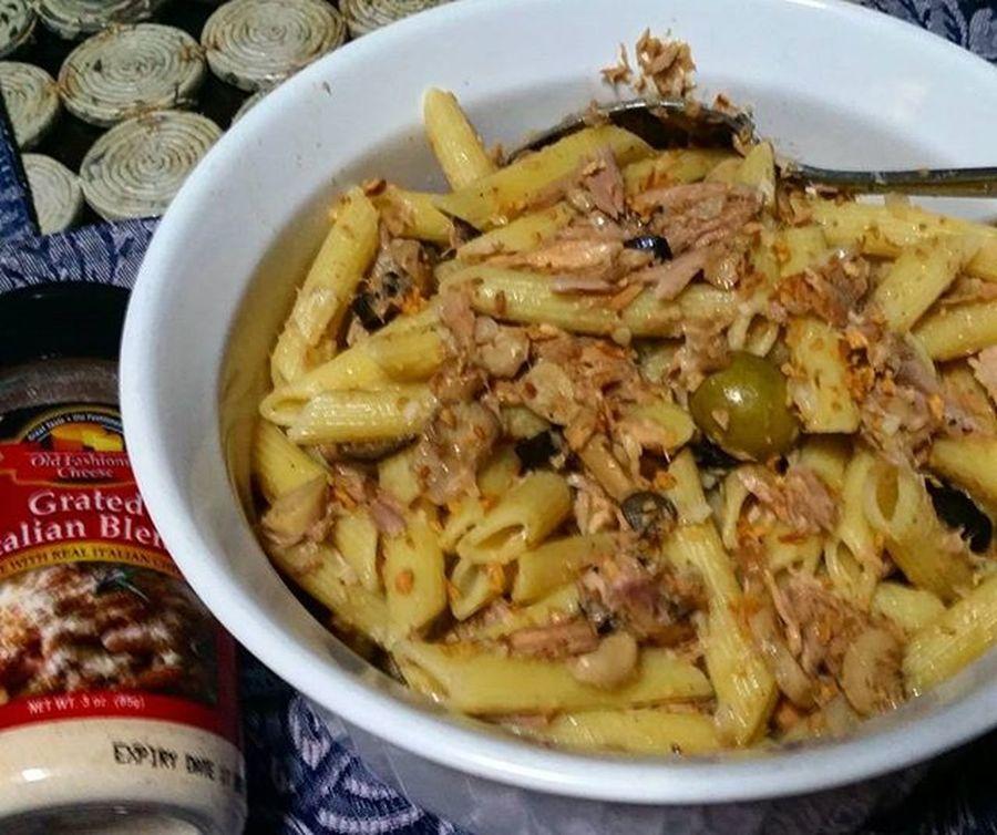Tuna Penne Pasta breakfast by yours truly Pasta Breakfast CenturyTuna Parmesan Aldentepasta