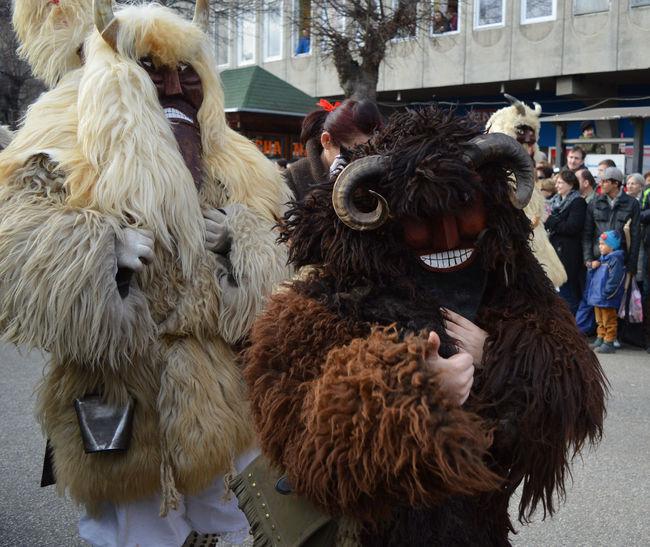 Monster Busojaras People Together Busó Mohács Busójárás Mohács Spring Festival Chasing Away Winter Winter Festival Winter People And Places