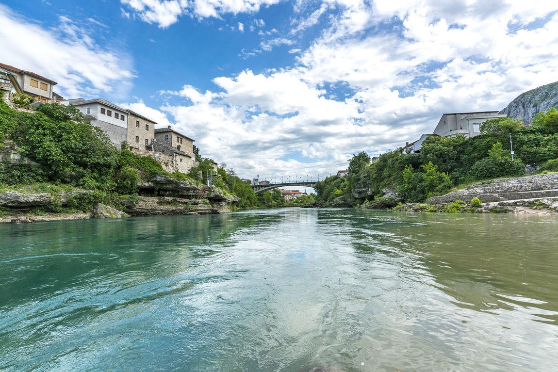 Architecture Bosnia And Herzegovina Bridge Day Famous Place Heritage Herzegovina History Mostar Nature Neretva Outdoors Panorama River Sky The Architect - 2017 EyeEm Awards Water