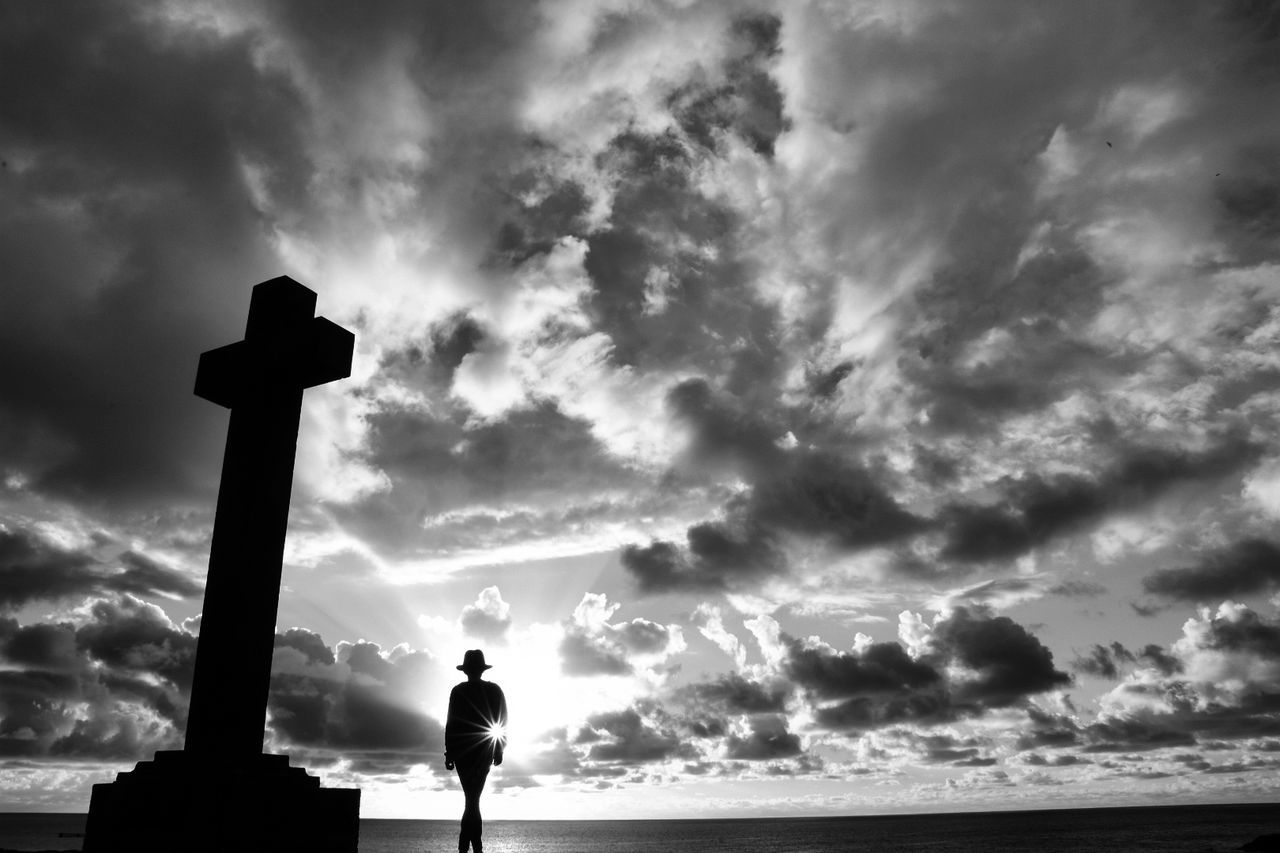 Cloud - Sky Dramatic Sky Sky People Outdoors Nature Landscape Ocean Europe Atlanticocean Europe_gallery Españoles Y Sus Fotos Tenerife España Canary ıslands Beauty In Nature Mystical Atmosphere Lifestyles Only Women SPAIN Horizon Over Water Canarias Silhouette Mysterious Monochrome Blackandwhite Photography