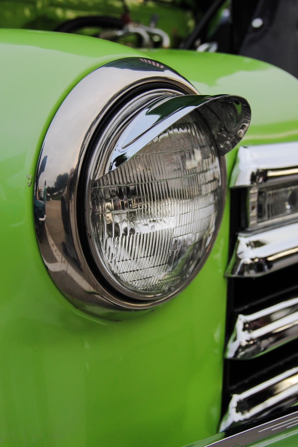 Close-up No People Day Mode Of Transport Outdoors Clean Technology Close Up Transportation Mode Of Transportation Lights Light Cars Car Custom Cars Headlights Land Vehicle PaintJob Vintage Cars Vintage Green Color Green Maximum Closeness The Drive
