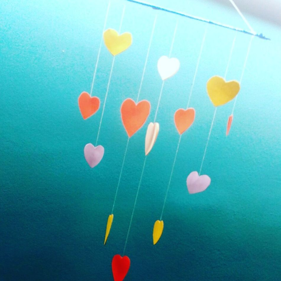 Bestoftoday Hearts♡hearts Creative World Paperwork Paper Art Freetime 👌 Love Celebration Studio Shot Colored Background No People Underwater Multi Colored Close-up Day UnderSea Outdoors