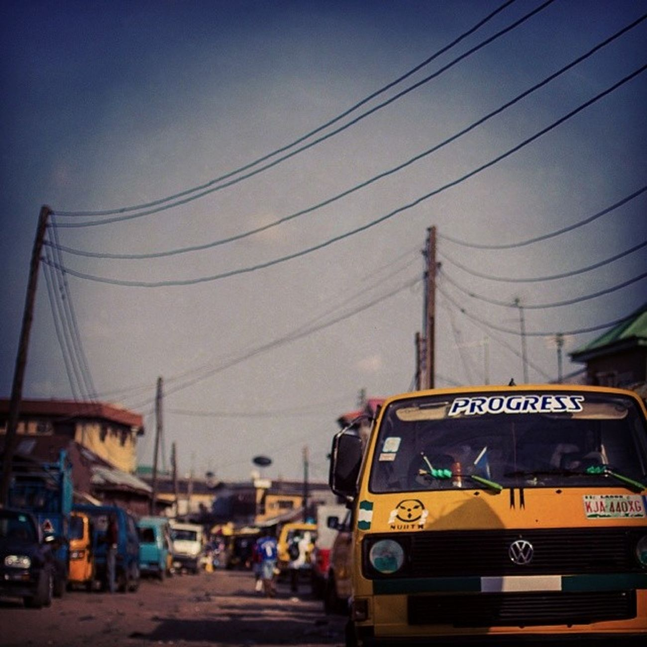Progress in Africa needs Electricity! Danfo Ibmresearchafrica Ibmenergy Streetphotography Nigeria Lagos Africa