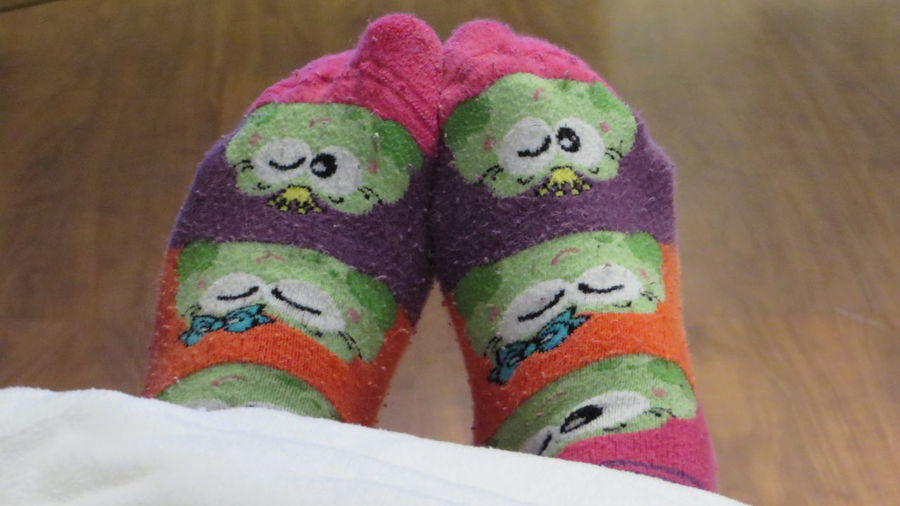 TK Maxx Socksie I See Faces Always Be Cozy Socks Under Blanket Relaxing Funny Socks Leisure Activity It's Cold Outside No People