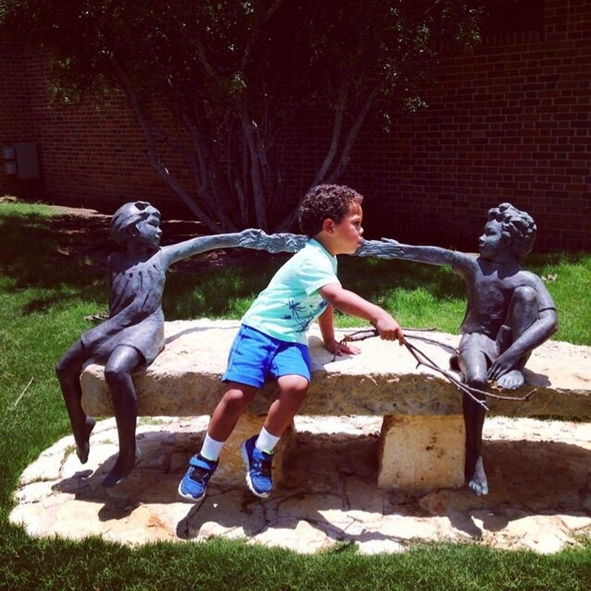 Museum Of The Southwest Midland, TX Sculpture Child Interaction