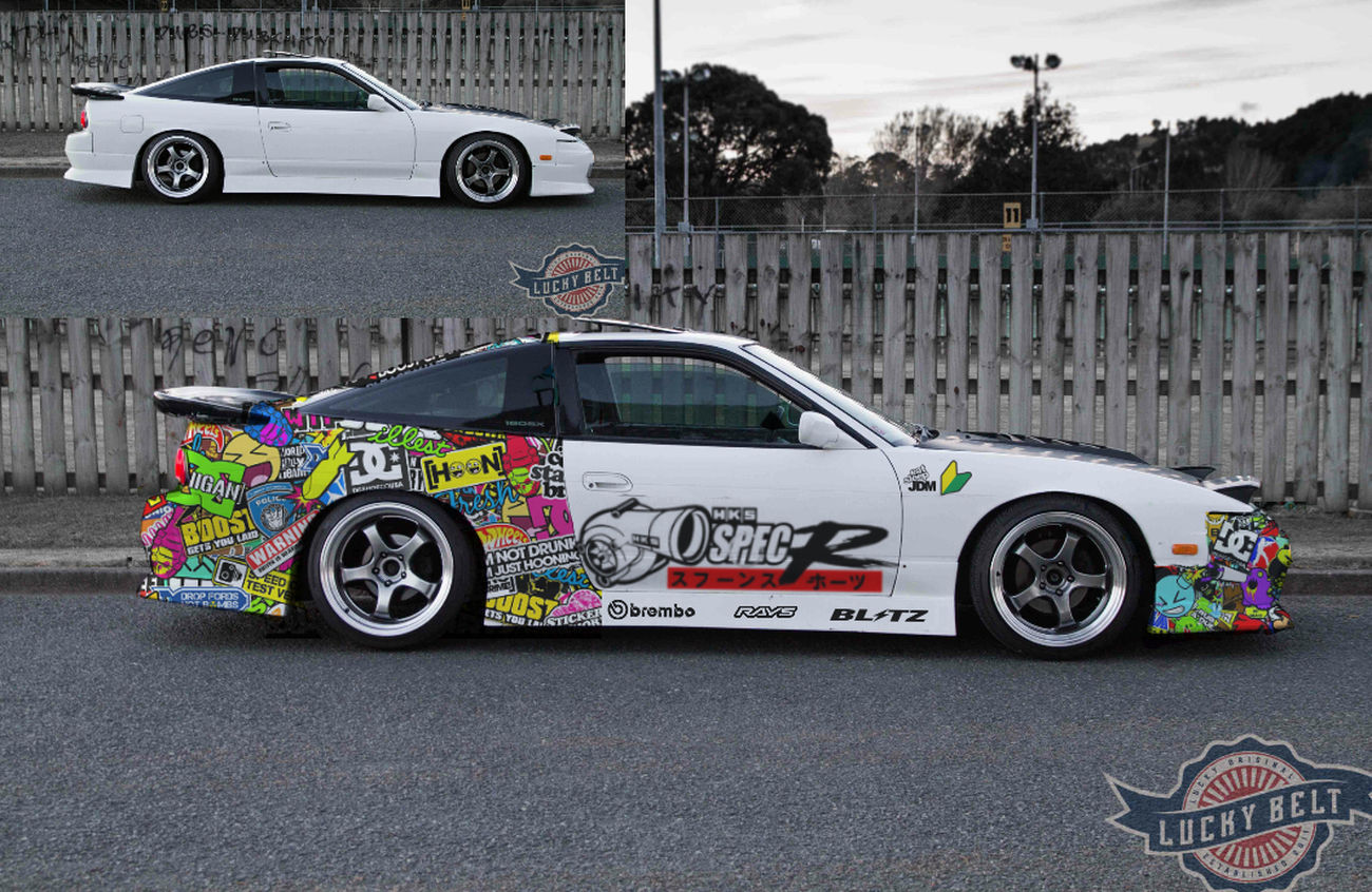 Nissan 180sx Jdmlifestyle Stickerbomb my photoshop