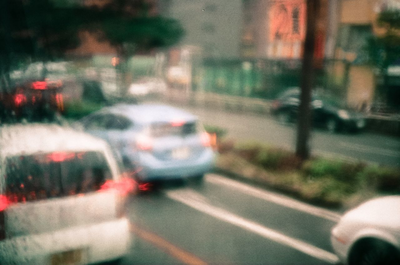 Japan Traveling Travel Bus Rain Film Filmcamera Canon A35Datelux Fujifilm 'K' The Life Spectrum