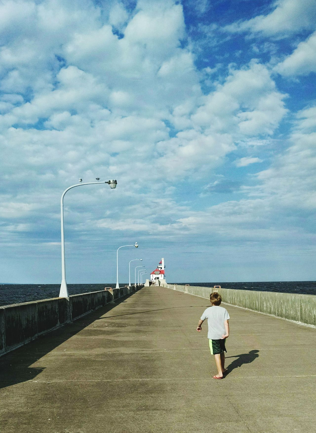 Lake Superior Duluth Minnesota USA Canal Park I Can See For Miles The Big Lake Little Boy Lighthouse Open Water Summer Love