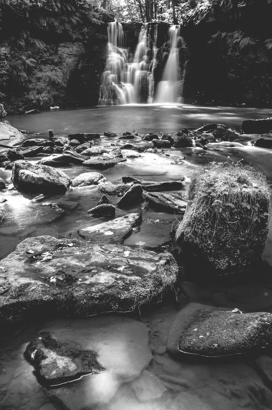 Goit Stock Falls in Harden. Blac&white  Black & White Waterfall Addicted2walking