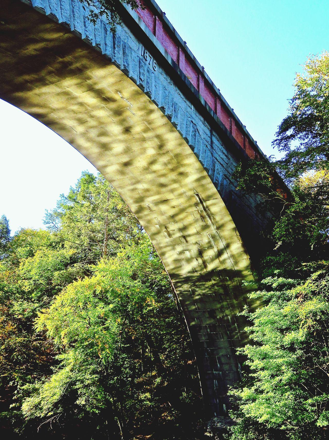 Echo bridge Under The Bridge Looking Up Historic Landmarks Stone Bridge Historic Site Aquaduct Light Play