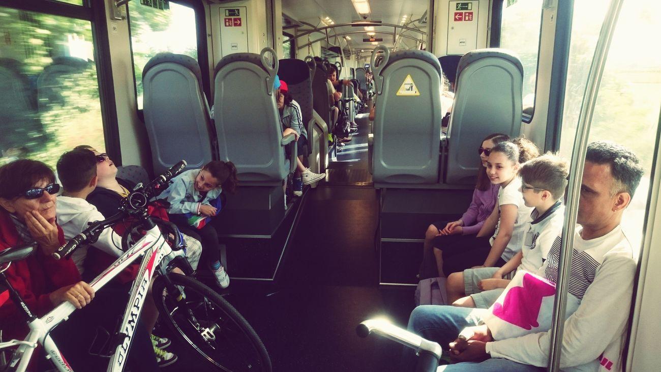 Voglio tornà bambinoooo Public Transportation Felicità Treno Ferrovie Bici Bambini  Gita