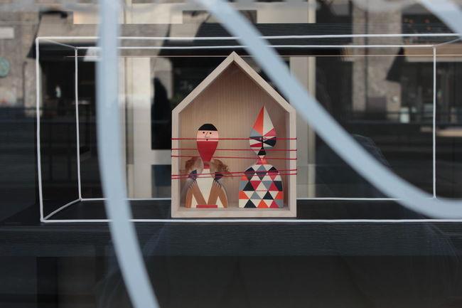 Design Harlequin No People Puppet Selective Focus Shop Still Life Urban Windows Wooden Doll