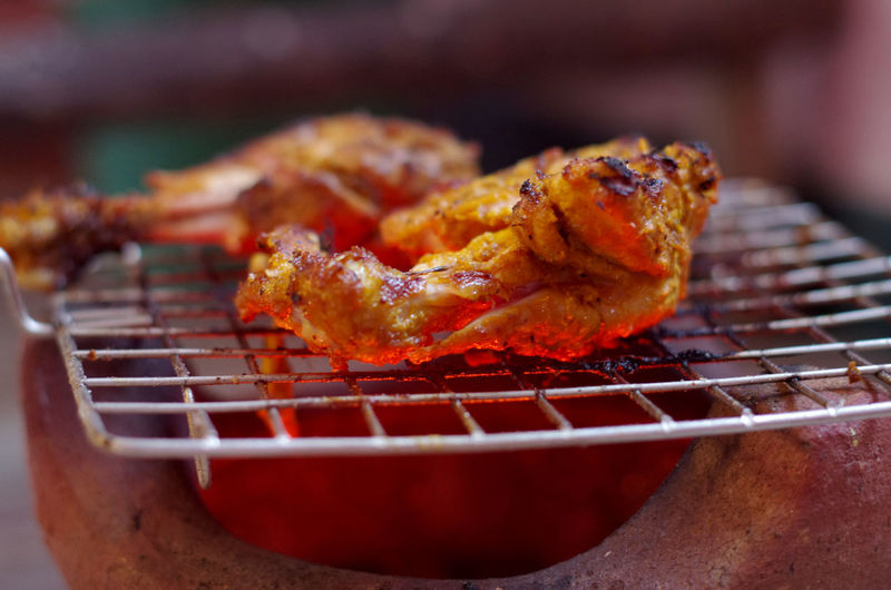 Barbecue Barbecue Grill Chicken Leg Chicken Tandoori Chicken Wing Close-up Day Food Food Photography Freshness Grilled Indulgence Meat No People Outdoors Ready-to-eat Food Stories