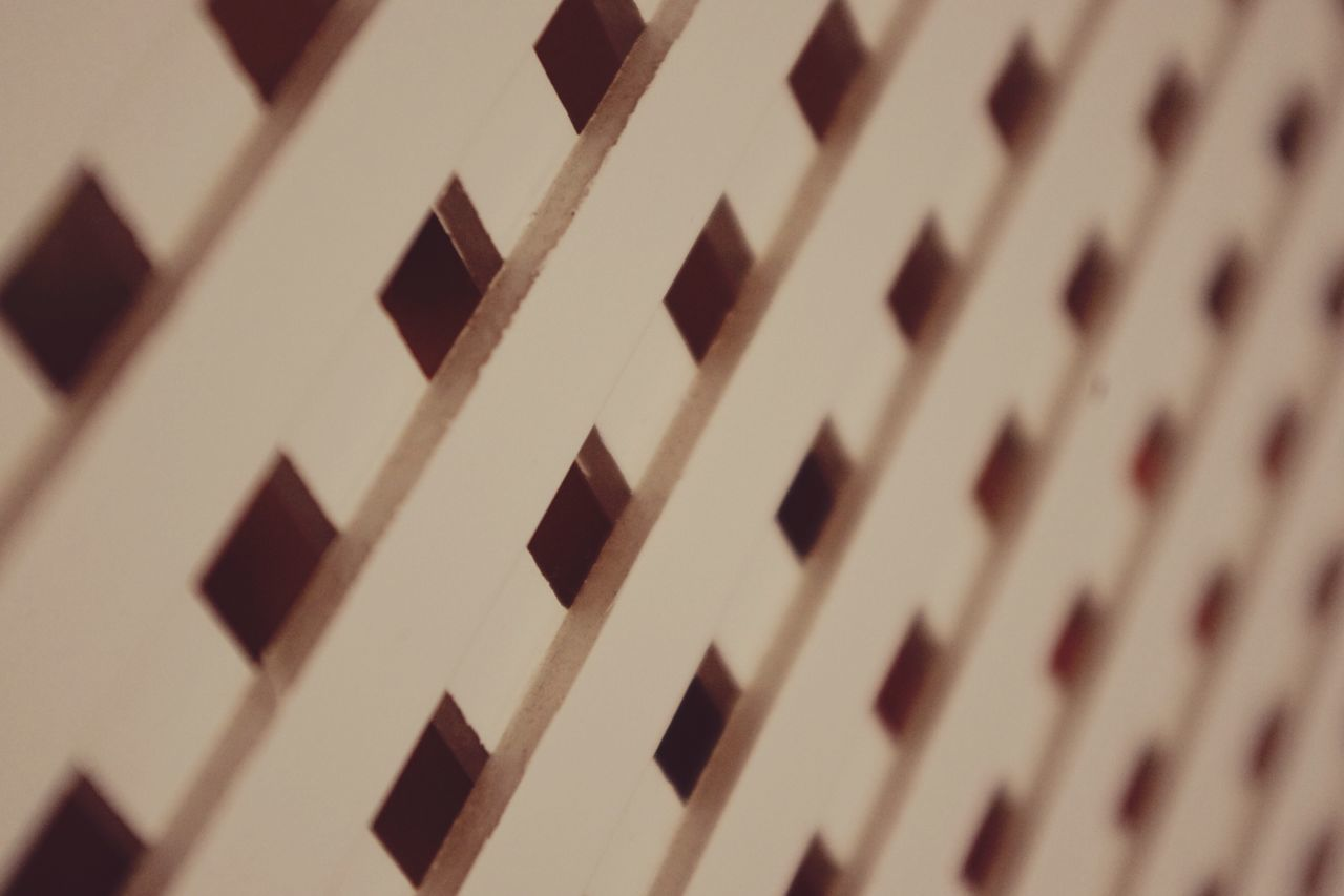 Close-up Full Frame Indoors  No People In A Row Repetition Low Angle View Backgrounds Architecture Day Carpentry Lattice Wood - Material Wooden Privacy Secrecy Hidden Latticework Pattern