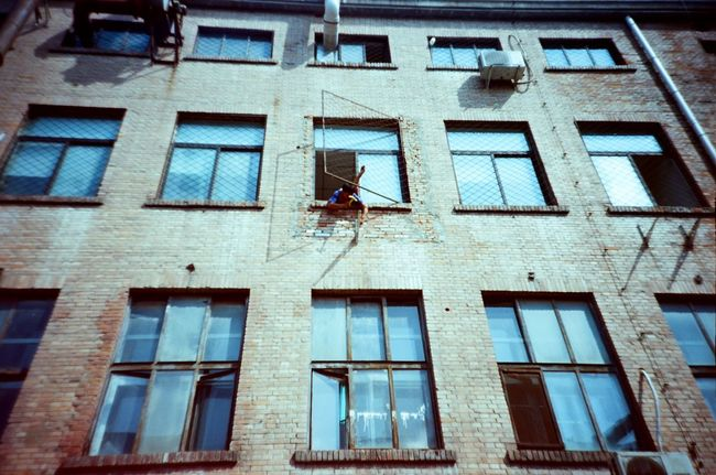 Out standing Building Exterior Low Angle View Built Structure Architecture 798 District 798artzone Beijing, China Traveling In China Travelphotography Workers At Work ExploreEverything Lomography Ektar 100 Ishootfilm