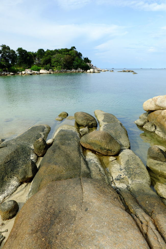 Beach Beauty In Nature Calm Cloud Day Lake Nature Outdoors Scenics Sea Shore Sky Stone Stone - Object Tranquil Scene Water