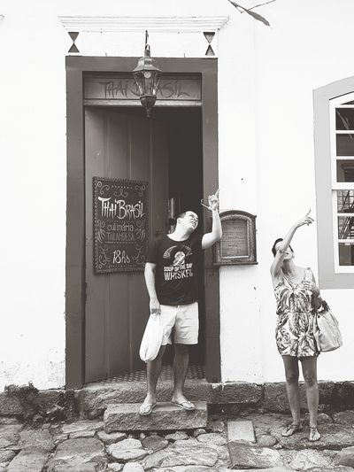 Door Full Length Doorway People Standing Adult Day Childhood Real People Friendship Outdoors Togetherness Adults Only Black And White Friday Architecture Whitewashed Travel Destinations EyeEm Best Shots