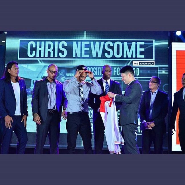 Ateneo's Chris Newsome (@new11new) is fourth overall pick by Meralco Bolts 🏀 . . . Pba PBARookieDraft2015 Rookies hoop ballers ballislife themanansala