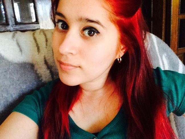 Extraño mi cabello rojo u.u